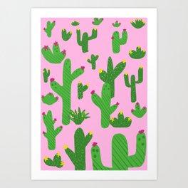 Cactus Pink Artwork design Art Print