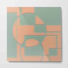 Circular Squares and Rectangles Metal Print