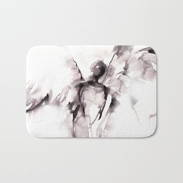 Angel Abstract No.105 by Kathy Morton Stanion Bath Mat