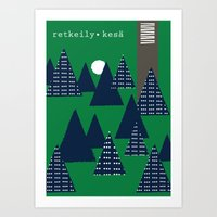 camping Art Prints featuring Camping by pegeo