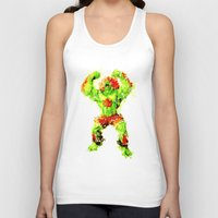 street fighter Tank Tops featuring Street Fighter II - Blanka by Carlo Spaziani