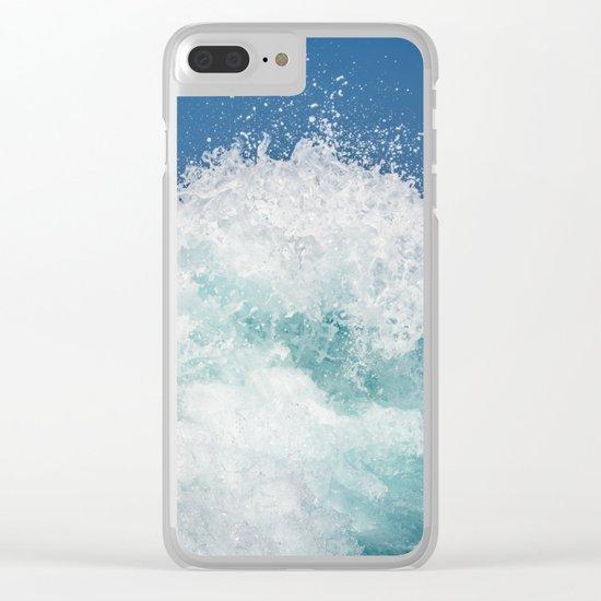 Crashing beautiful waves Clear iPhone Case