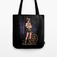steampunk Tote Bags featuring Steampunk by Loveit Designs