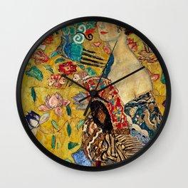 Gustav Klimt Lady With Fan Wall Clock