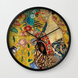 Gustav Klimt Lady With Fan Wall Clock