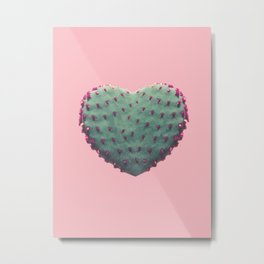 Heart of Cactus Metal Print