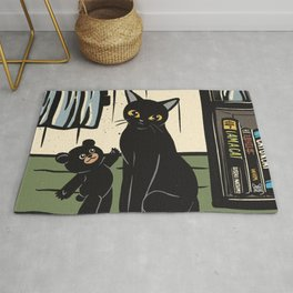 Lovely bear and cat Rug