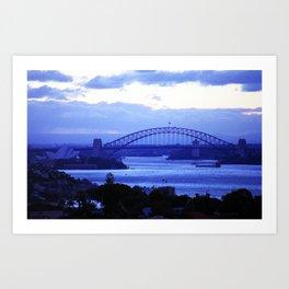 Sydney Oprah House & Bridge, NSW, Australia Art Print