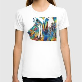 Colorful Bloodhound Dog Art By Sharon Cummings T-shirt