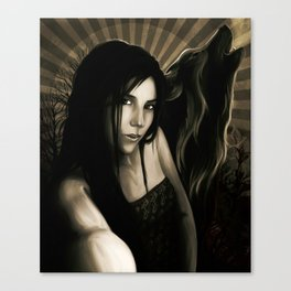 SheWolf Dark Night Canvas Print