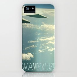 wanderlust airplane iPhone Case