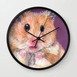 Cute Little Hamster Wall Clock