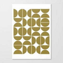 Mid Century Modern Geometric 04 Flat Gold Canvas Print