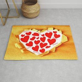 Love in languages Rug