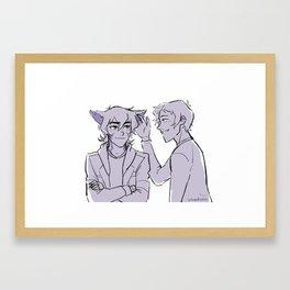 Fluffy Ears Framed Art Print