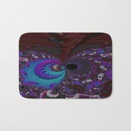 Hoarse Hallow Fractal - Abstract Art Bath Mat