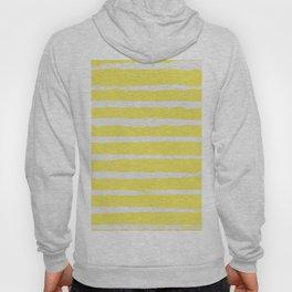 Irregular Stripes Yellow Hoody