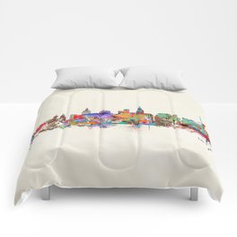 Las Vegas Nevada skyline Comforters