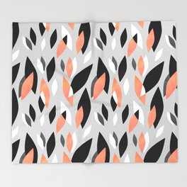 Falling Leaves Pattern Throw Blanket
