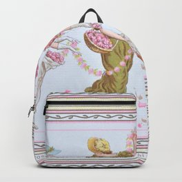Kate Greenaway - Valentine 1881 - Digital Remastered Edition Backpack