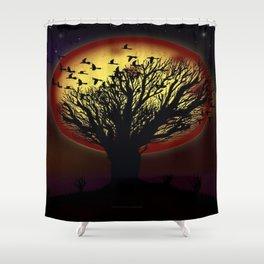 NIGHT FLOCK - 020 Shower Curtain