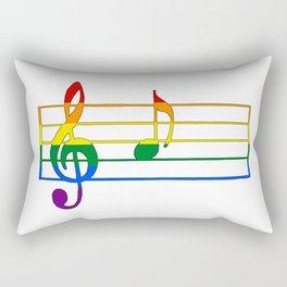 Rainbow Flag Musical Note 'A Rectangular Pillow