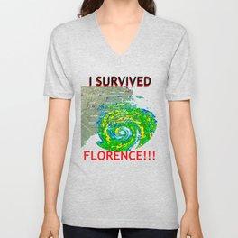 I Survived Hurricane Florence!!! Unisex V-Neck