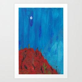 desert nite Art Print