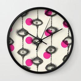 PINK POLKA Wall Clock