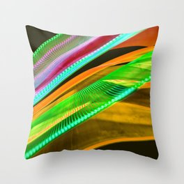 Colorful bands of light Throw Pillow