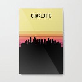 Charlotte Skyline Metal Print