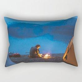 Camp on North Sea Island Rectangular Pillow
