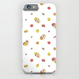 Bell Peppers and Guinea Pigs Pattern in White Background iPhone Case