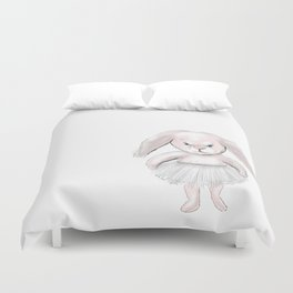 Pink bunny Duvet Cover