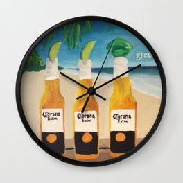 Greedy - Corona Ad Painting Wall Clock