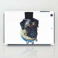 pugs iPad Cases featuring Sir Pugs by Bonnie J. Breedlove