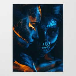 Look Like Zombie Girls, UV Colors Poster