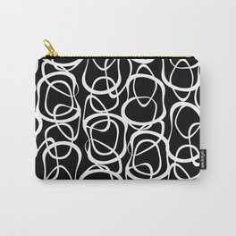 Interlocking - White On Black - Pattern by Menega Sabidussi Carry-All Pouch