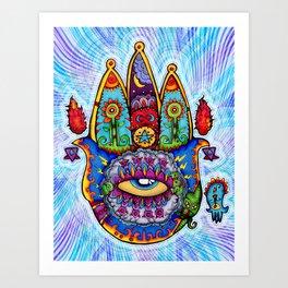 Hamsa  (Hand of Fatima) Art Print