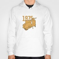 1975 Hoodies featuring Vespa Ts 1975 by usbe