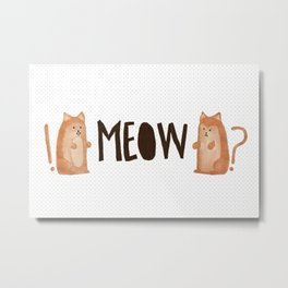 A Tail of Two Kitties Metal Print