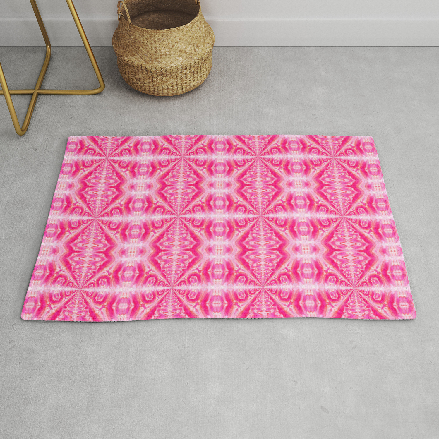 Picture of: Summer In Hot Pink Rug By Naturessol Society6