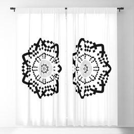 Aztec Mandala [BW VAR] Blackout Curtain