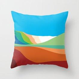 Bromo gradation Throw Pillow