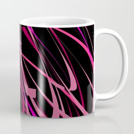 Tough & Sassy Pink Black Abstract Art Coffee Mug