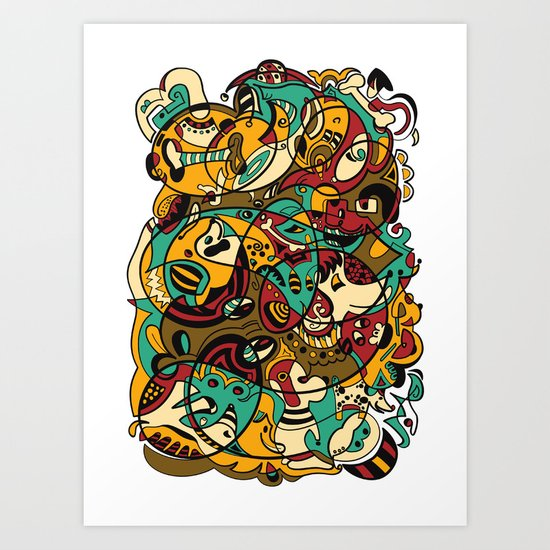 Dog - 12 ANIMAL SIGNS Art Print