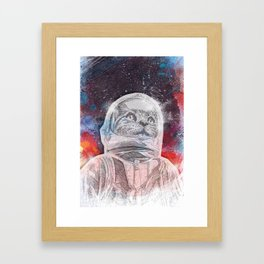 Space_Cat Framed Art Print