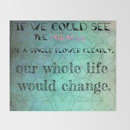 Zen Art Inspirational Buddha Quotes  Throw Blanket