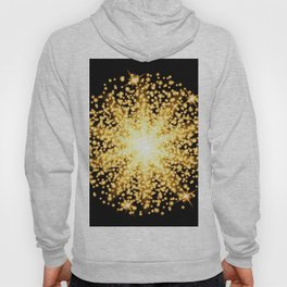 Abstract gold glow light effect Hoody