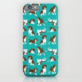 Beagle dog breed - turquoise iPhone Case